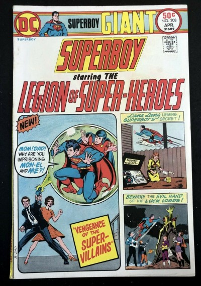 Superboy (1949) #208 FN+ (6.5) starring Legion of Super-Heroes 68 page giant