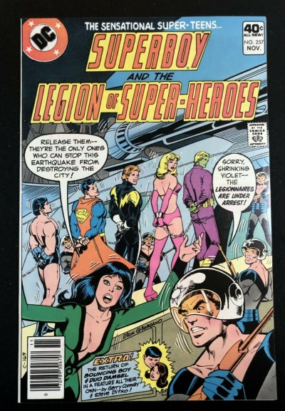 Superboy (1949) #257 VF (8.0) starring Legion of Super-Heroes Steve Ditko art