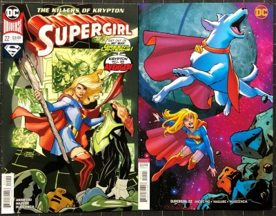 Supergirl (2016) #22 NM (9.4) regular & variant cover set