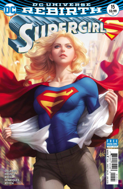 Supergirl (2016) #15 VF/NM Artgerm Variant Cover DC Universe