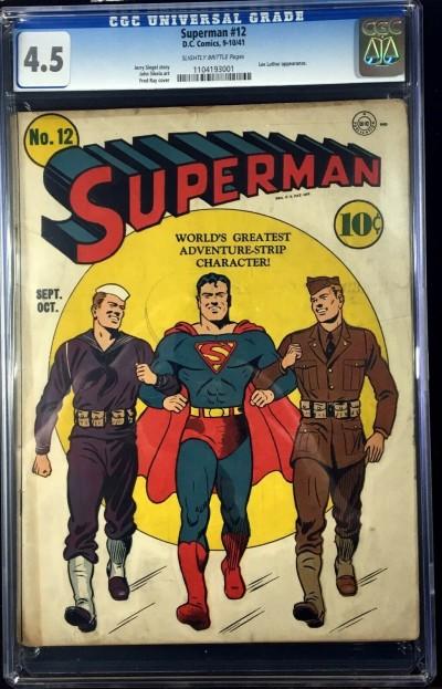Superman (1939) #12 CGC 4.5 Lex Luthor appearamce (1104193001)
