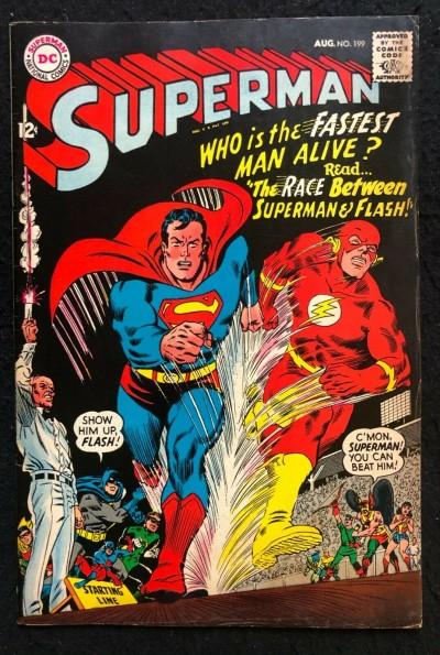 Superman (1939 #199 FN (6.0) 1st Superman Flash Race