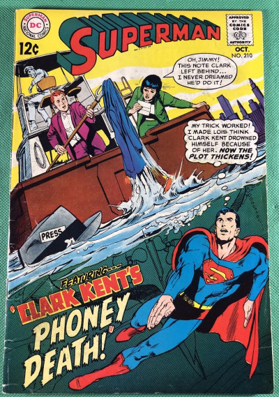 Superman (1939) #210 VG+ (4.5) Neal Adams cover