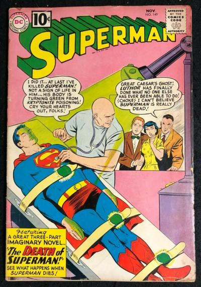 Superman (1939) #149 VG (4.0) Death of Superman Story 8th app Legion