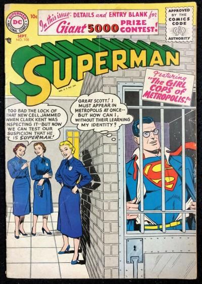 "Superman (1939) #108 VG- (3.5) ""Girl Cops of Metropolis"""