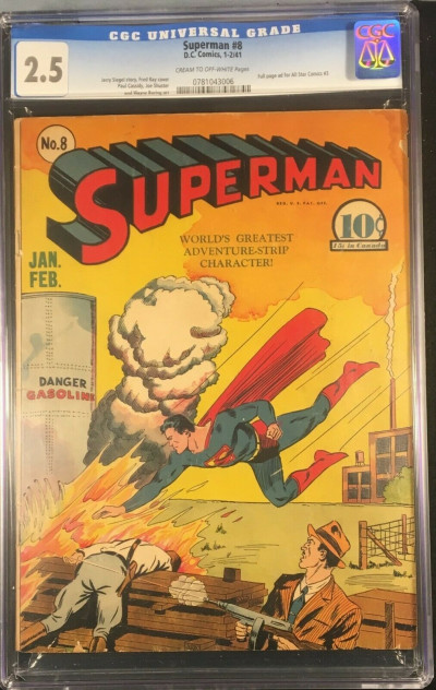 Superman (1939) #8 CGC 2.5 Full page Ad for All-Star Comics #3 (0781043006)