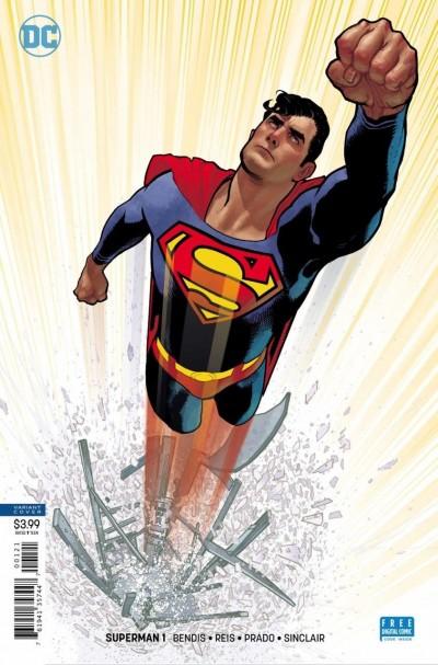Superman (2018) #1 VF/NM Brian Michael Bendis Adam Hughes Variant Cover