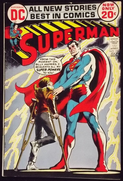 SUPERMAN #254 FN- NEAL ADAMS INKS