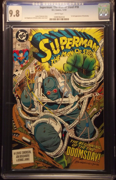 SUPERMAN MAN OF STEEL ADVENTURES ACTION #'s 18,19,74,497,684 DOOMSDAY CGC 9.8
