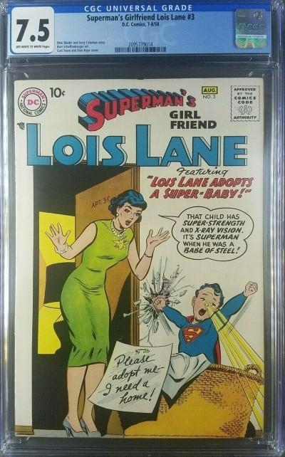 SUPERMANS GIRLFRIEND LOIS LANE (1958) #3 CGC 7.5 SUPERMAN DC COMICS 2095779014|