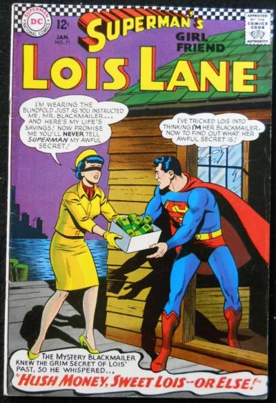 SUPERMAN'S GIRLFRIEND LOIS LANE #71 FN BATMAN & ROBIN CAMEO