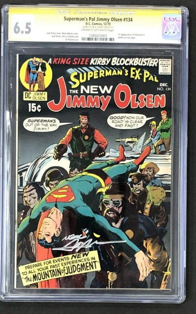 Superman's Pal Jimmy Olsen (1954) #134 CGC 6.5 Signed by Neal Adams (1280023005)