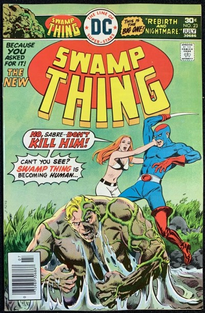 Swamp Thing (1972) #23 VF+ (8.5) Swamp Thing Reverts Back to Dr. Holland pt 1