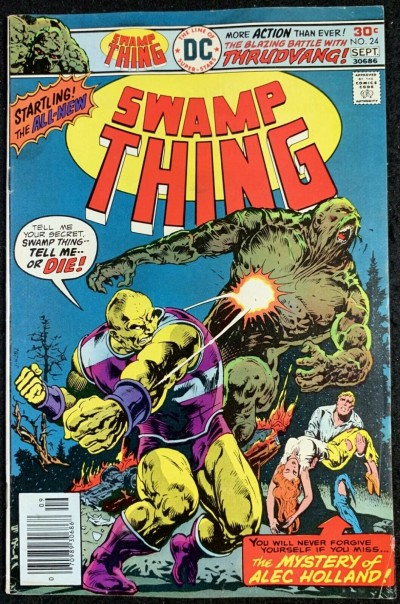 Swamp Thing (1972) #24 FN (6.0) Swamp Thing Reverts Back to Dr. Holland pt 2