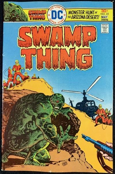 Swamp Thing (1972) #22 FN- (5.5) Ernie Chan Cover Nestor Redondo Art