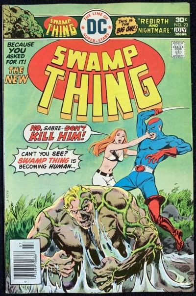 Swamp Thing (1972) #23 FN+ (6.5) Swamp Thing Reverts Back to Dr. Holland pt 1