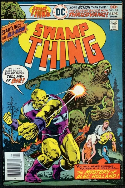 Swamp Thing (1972) #24 VF- (7.5) Swamp Thing Reverts Back to Dr. Holland pt 2