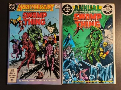 SWAMP THING #50 ANNUAL 2 VF- 1st Appearance of Justice League Dark! Alan Moore!|