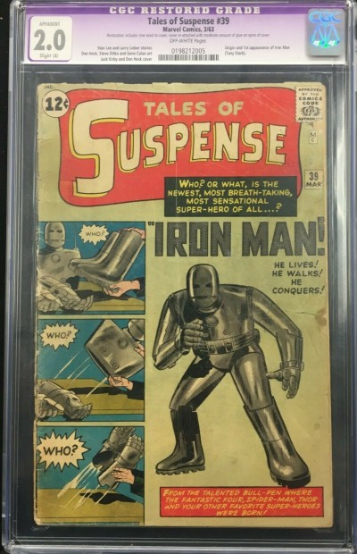 Tales of Suspense (1959) #39 CGC 2.0 Slight (A) 1st app Iron Man (0198212005)