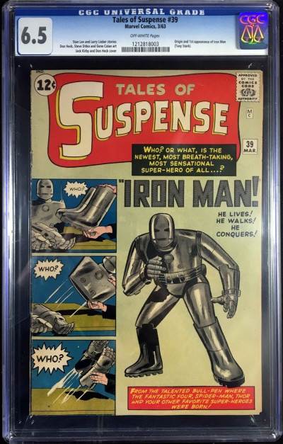 Tales Of Suspense CGC 6.5 off-white pages 1st app Iron Man (1212818003)