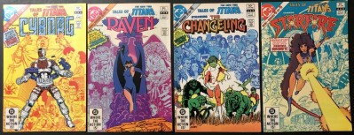 Tales of the New Teen Titans (1982) #1 2 3 4 VF/NM (9.0) complete set