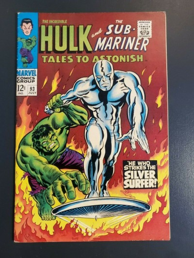 Tales to Astonish #93 (1967) VF- 7.5 Classic Silver Surfer cover Beautiful copy|