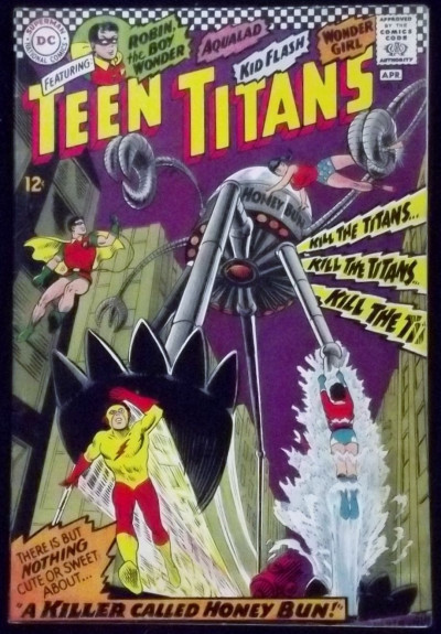 TEEN TITANS (1966) #8 FN+ KID FLASH ROBIN WONDER GIRL