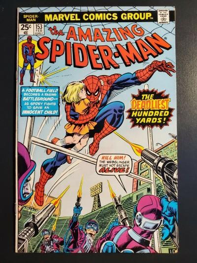 THE AMAZING SPIDER-MAN #153 (1976) VF (8.0) 1st App Paine |