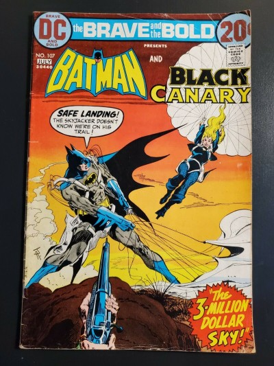 The BRAVE And The BOLD #107 (1973) VG- 3.5 Batman And The Black Canary Bronze  