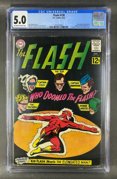 The Flash (1959) #130 CGC 5.0 Mirror Master Weather Wizard (3743316002)