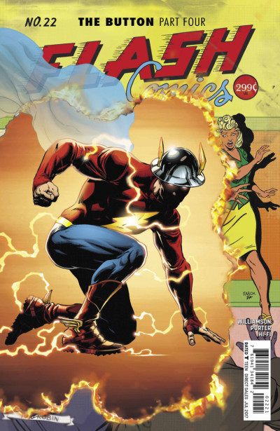 The Flash (2016) #22 VF/NM Jason Fabok Regular Cover Button DC Universe Rebirth