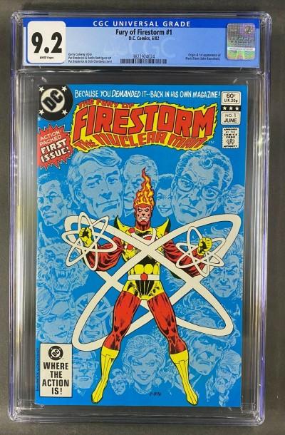 The Fury of Firestorm (1982) #1 CGC 9.2 Origin/1st App Black Bison (3822924024)