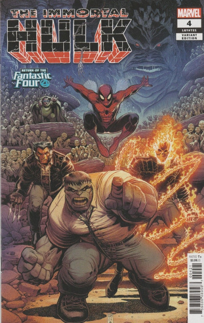 The Immortal Hulk (2018) #4 VF/NM Return of the Fantastic Four Variant Cover