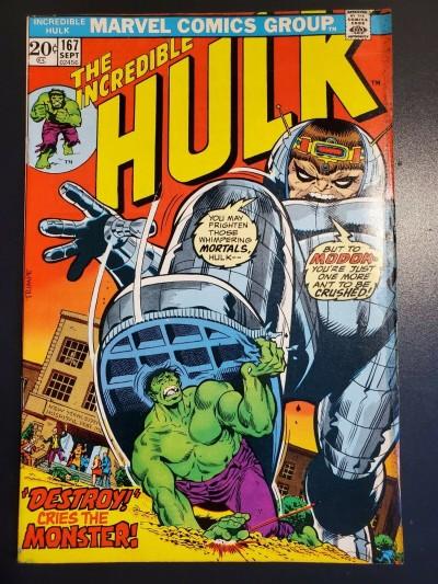 The Incredible Hulk #167 (1973) FN+ (6.5) vs. Modok Herb Trimpe |
