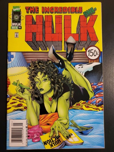 THE INCREDIBLE HULK #441 VF/NM SHE-HULK PULP FICTION HOMAGE COVER