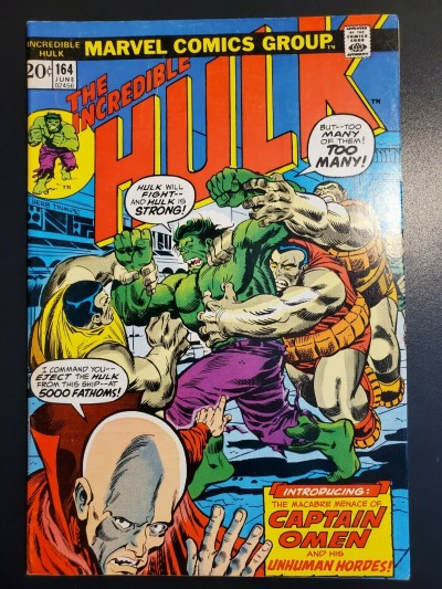 The Incredible Hulk #164 (1973) FN/VF (7.0) 1st app. Captain Omen Herb Trimpe |