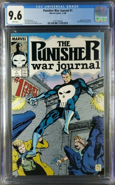 THE PUNISHER WAR JOURNAL #1 CGC 9.6 WHITE CARL POTTS JIM LEE ART (3701794024)|