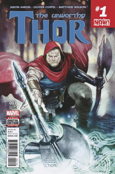 The Unworthy Thor (2017) #1 VF/NM Second 2nd Printing