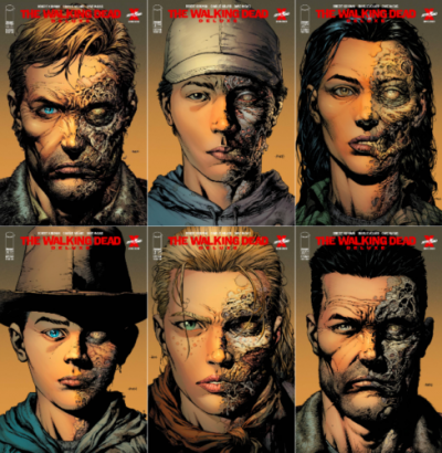 The Walking Dead Deluxe (2020) #'s 1 2 3 4 5 6 VF/NM 2nd Prints Set David Finch