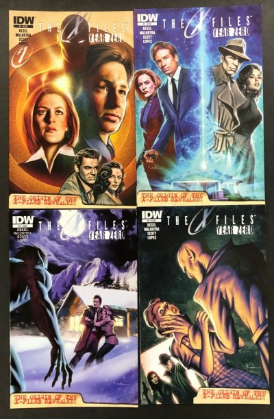 The X-Files: Year Zero (2014) #'s 1 2 3 4 Near Complete Set IDW