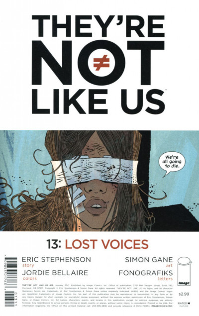 They're Not Like Us (2014) #13 VF/NM Image Comics