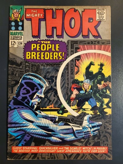 Thor #134 (1966) F- (5.5) 1st App High Evolutionary Man-Beast Fafnir|