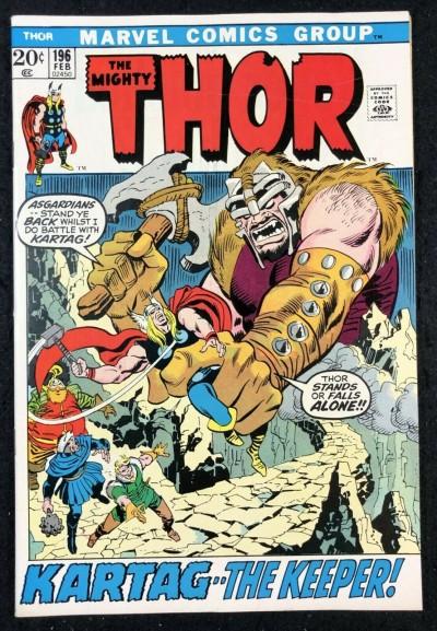 Thor (1966) #196 VF+ (8.5) vs Mangog Picture Frame Cover
