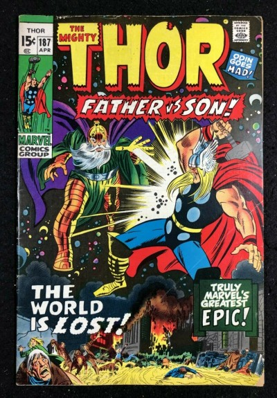 Thor (1966) #187 VG (4.0) Thor vs Odin Nuff Said
