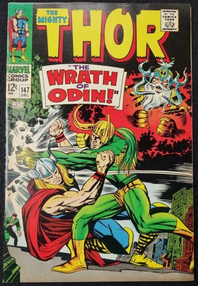 Thor (1966) #147 VF- (7.5) Loki Battle Cover Jack Kirby Cover & Art