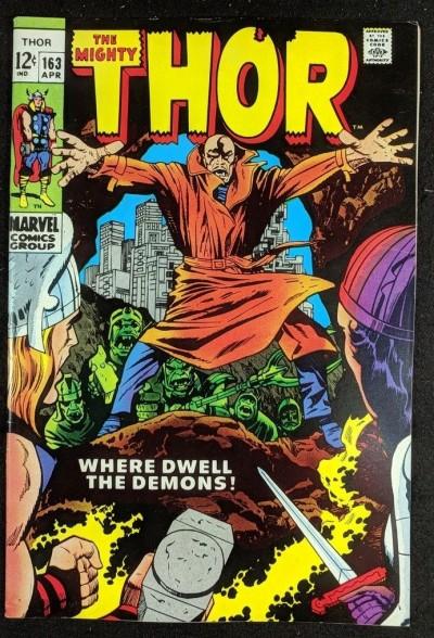 Thor (1966) #163 VF- (7.5) 2nd brief app Warlock (Him)
