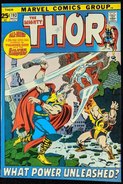 Thor (1966) #193 FN+ (6.5) classic Silver Surfer cover