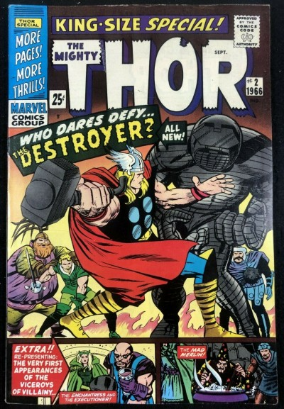 Thor (1966) Annual #2 VF- (7.5) vs Destroyer