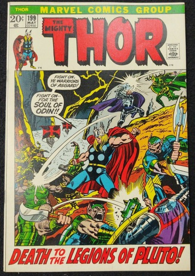 Thor (1966) #199 VF+ (8.5) 1st App Gygather / Ego Prime Picture Frame Cover