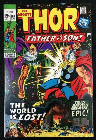 Thor (1966) #187 VF+ (8.5) vs Odin Father versus Son